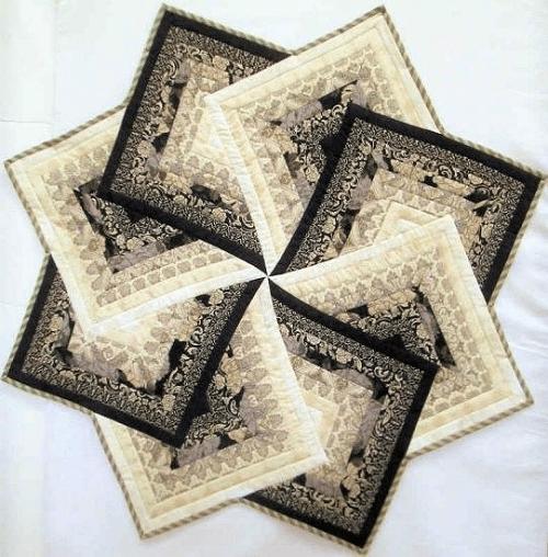Star Spin Quilt Block -