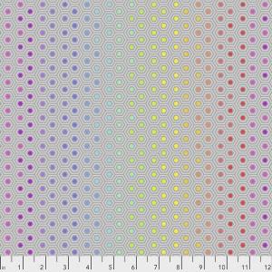 Tula Pink - True Colors - Hexy Rainbow - Dove