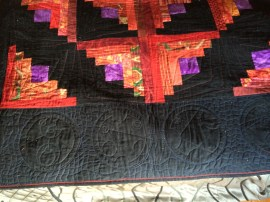 I wonder how many people will recognize the quilting motif here...