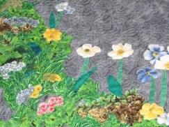 landscape quilt detail