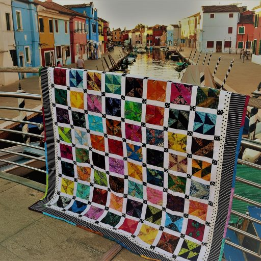 The Front Of Burano Sampler Quilt