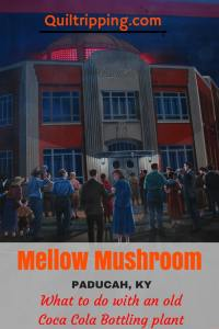 Mellow Mushroom is a cool restaurant in the old Coca Cola bottling plant in Paducah, KY #paducah #mellowkushroom #oldcocacolaplant