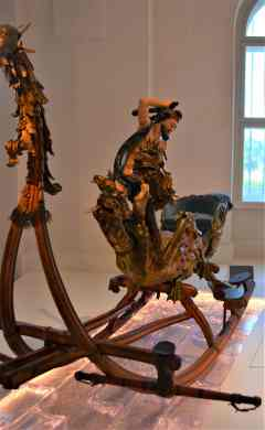 One of the many elaborate sleighs