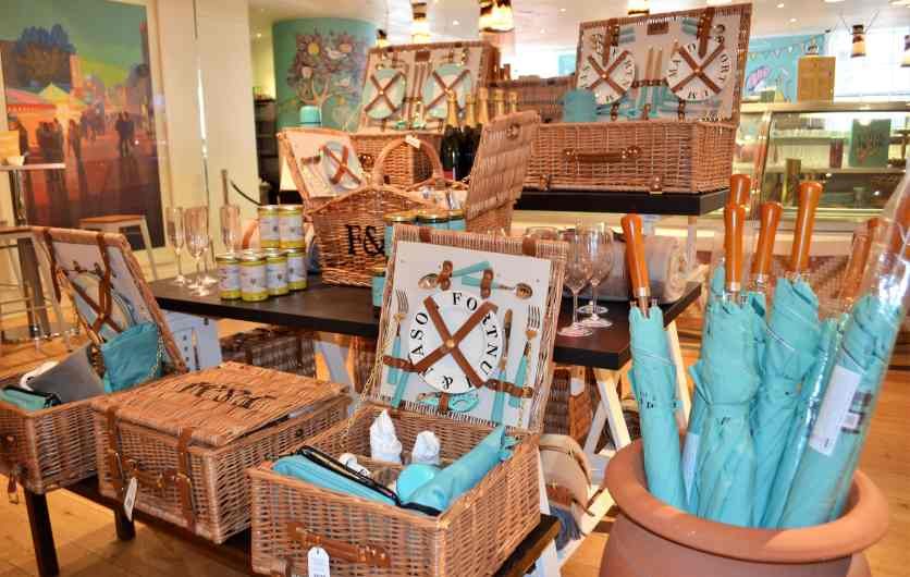 The famous Fortnum and Mason food hampers