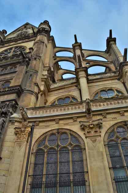The buttress details of St. Eustache
