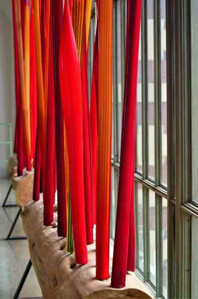 The red Reeds installation up close
