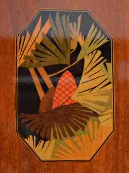 More art deco detail in our cabin woodwork