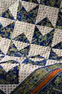"Detail of ""Quilter on the Orient Express"" Quilt"