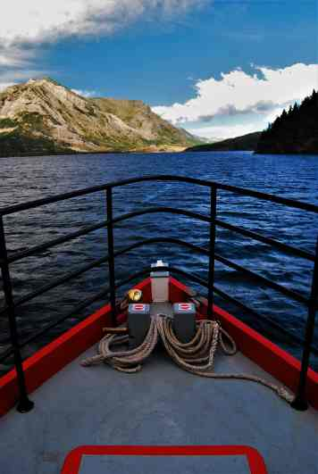 The view down Upper Waterton Lake as we cruise to Goat Haunt