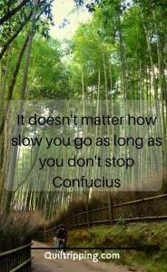 It doesn't matter how slow you go as long as you don't stop #quote #inspirationalquote #arashyamabamboogrove