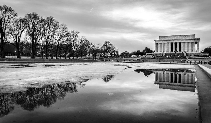 Lincoln Memorial in winter