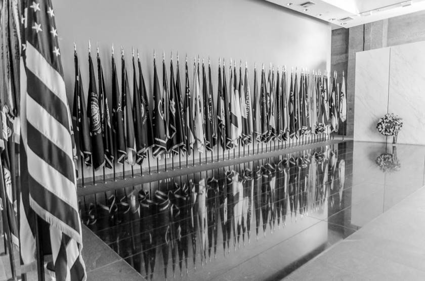 Flag room in the Women in Military Service Memorial