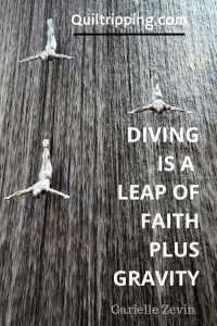 Diving is a leap of faith plus gravity