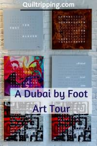 The Dubai by Foot Art Tour explores the Alserkal arts district in Dubai #dubai #dubaiart  #dubaibyfoot #alserkal