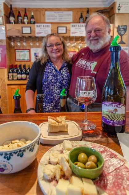 Juanita and RJ Lint, owners of Plum HIil Winery