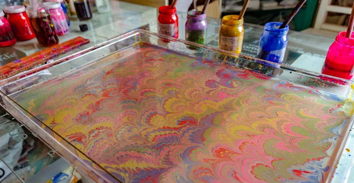 Learning Traditional Turkish Paper Marbling in Istanbul