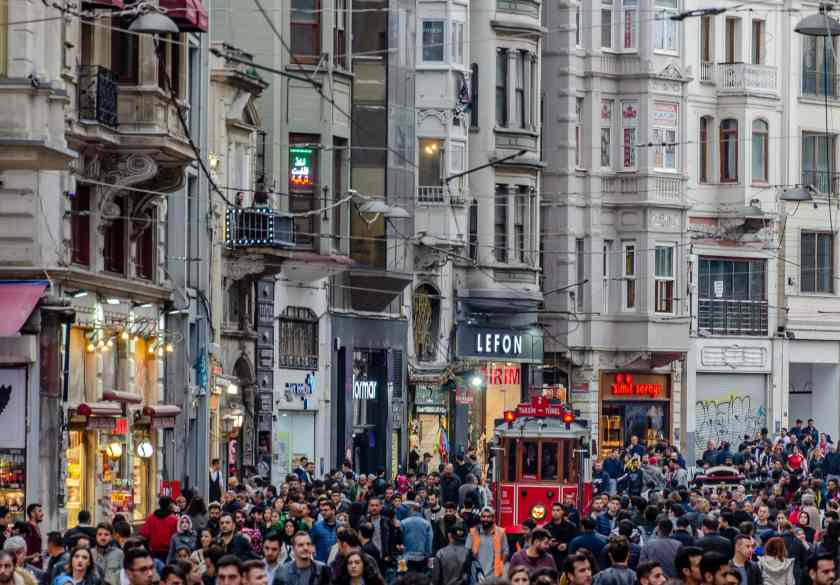 Sunday afternoon on Istiklal Street in Istanbul #istanbul #istiklal #istiklaltram