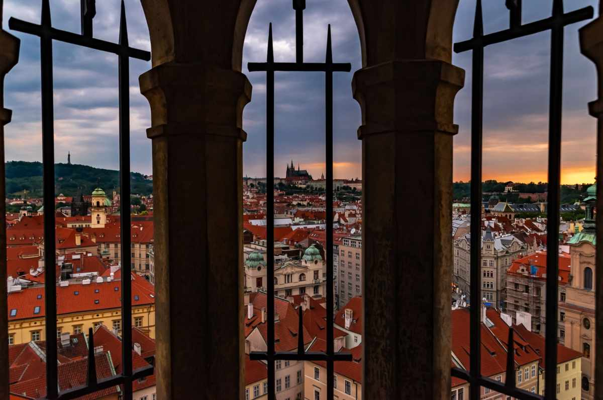 PhotoPOSTcard: Prague Sunset View from the Old Town Hall