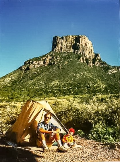 Camping in Chisos Basin in 1990
