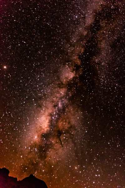 View of the milky way in Big Bend