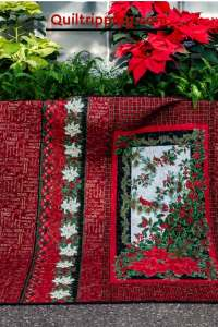 The other side of My Merry Christmas Quilt #christmasquilt #quilt #redandgreenquilt #christmaspanelquilt