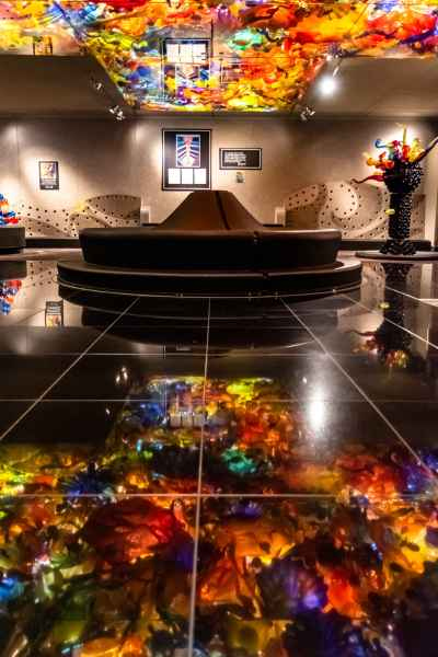 The Chihuly play area at the Indianapolis Children's Museum