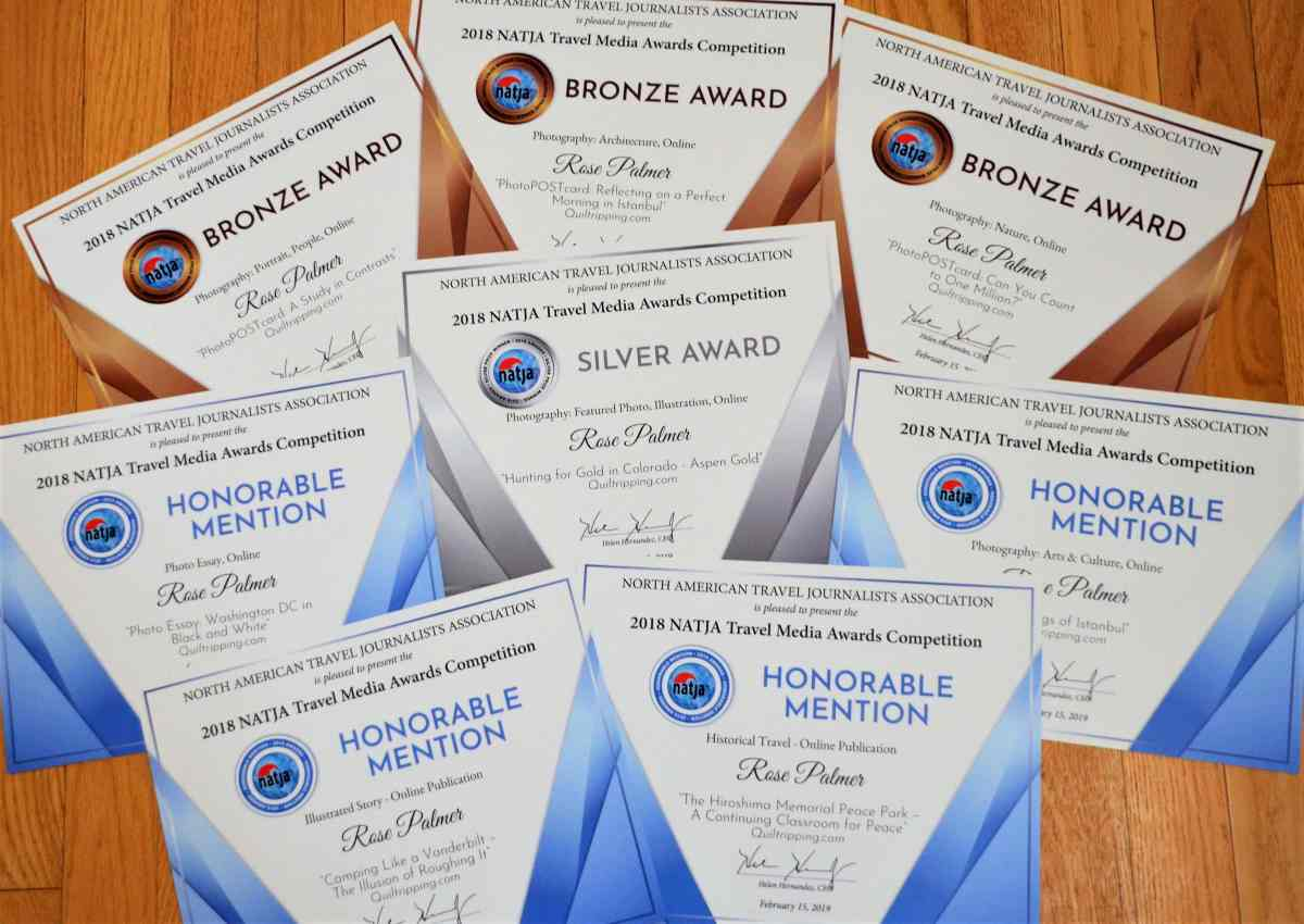 Quiltripping 2018 NATJA awards