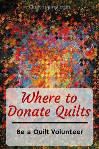 Sharing my list of organizations where you can donate quilts and quilt supplies #donatequilts #quiltdonations