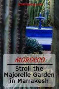 Discover the beautifully restored Majorelle Garden in Marrakesh #majorellegarden #marrakesh #morocco #yvessainlaurent