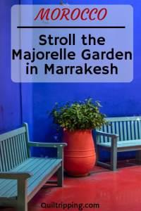 One of my favorite gardens in the world is the Majorelle Garden in Marrakesh #majorellegarden #marrakesh #morocco #yvessainlaurent