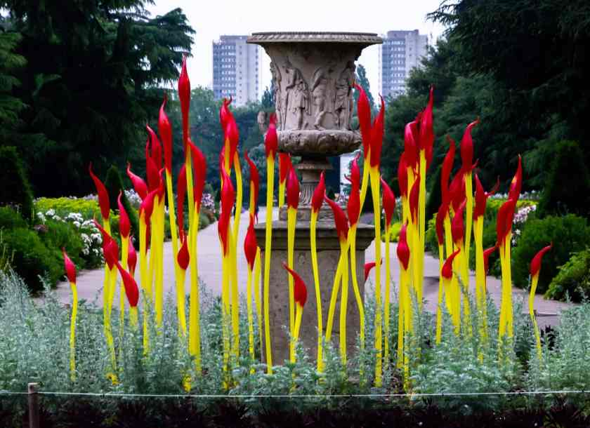 Chihuly Paintbrushes at Kew Gardens
