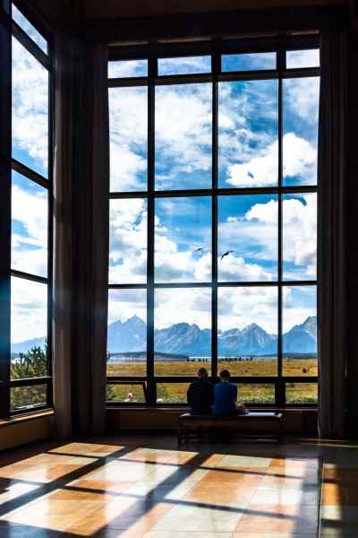 The stunning views from the Jackson lake Lodge