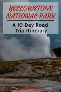 Sharing my 10 day road trip itinerary from Salt Lake City to Yellowstone #roadtrip #yellowstone #grandteton #wyoming