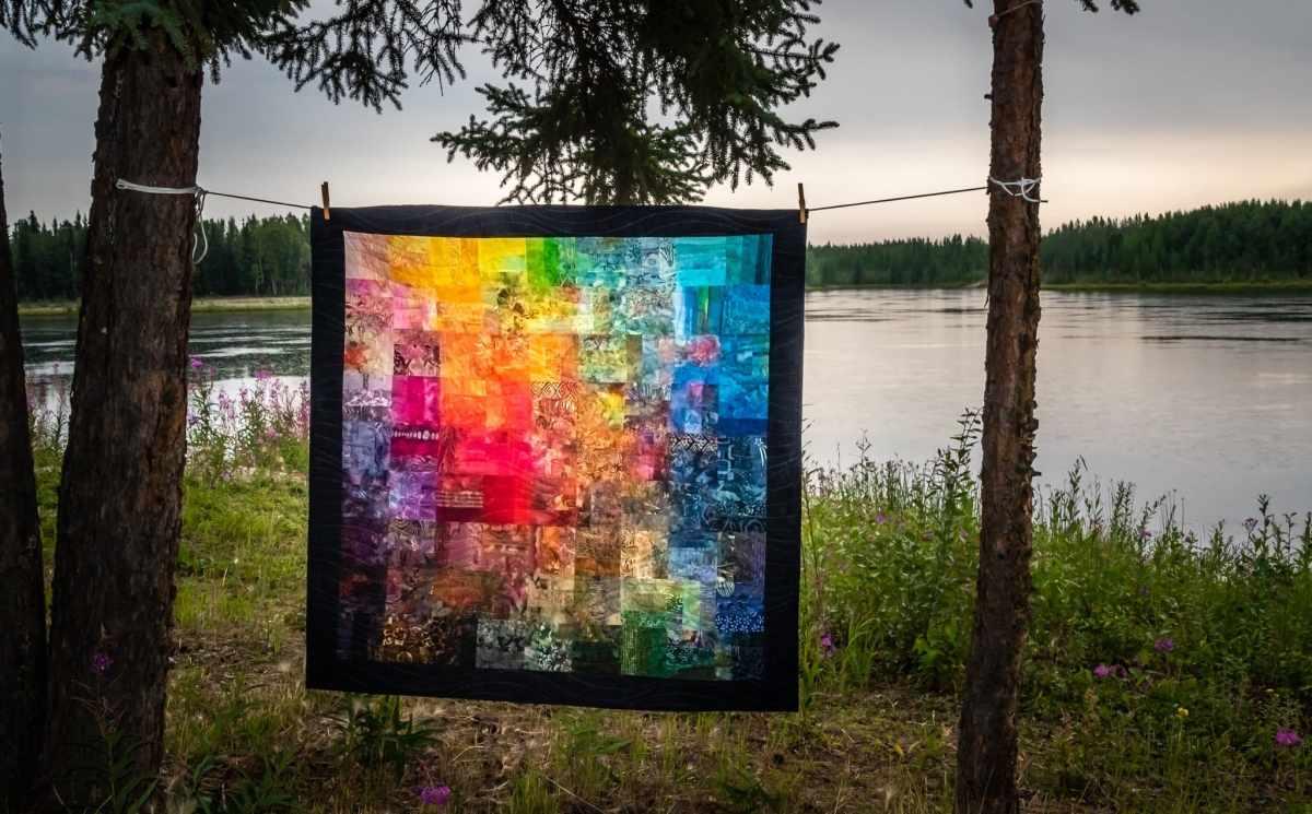 Under the Midnight Sun original quilt design