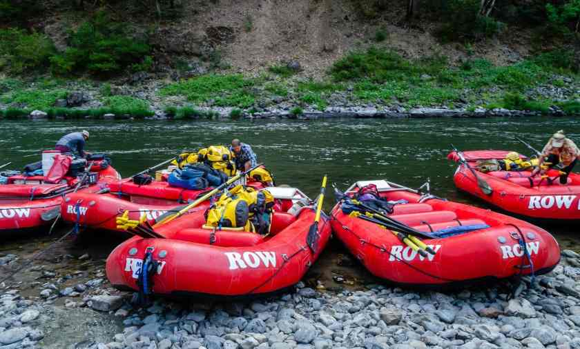 Getting ready to start our Rogue River trip