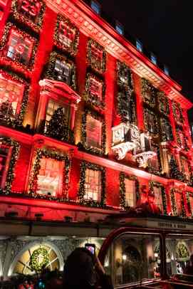 Fortnum and Mason is all lit up