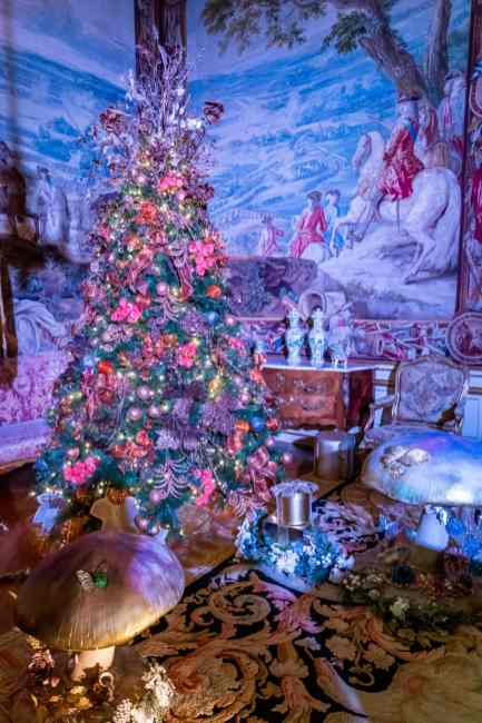 Each room at Blenheim had a uniquely decorated Christmas tree