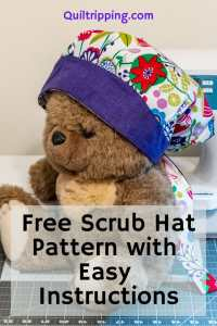 Free scrub cap pattern with easy instructions to sew your own #scrubcap #scrubhat #scrubcappattern