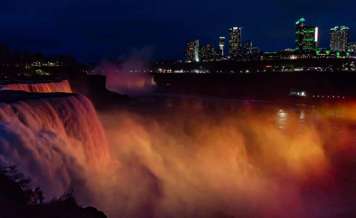 PhotoPOSTcard: Niagara Falls at Night