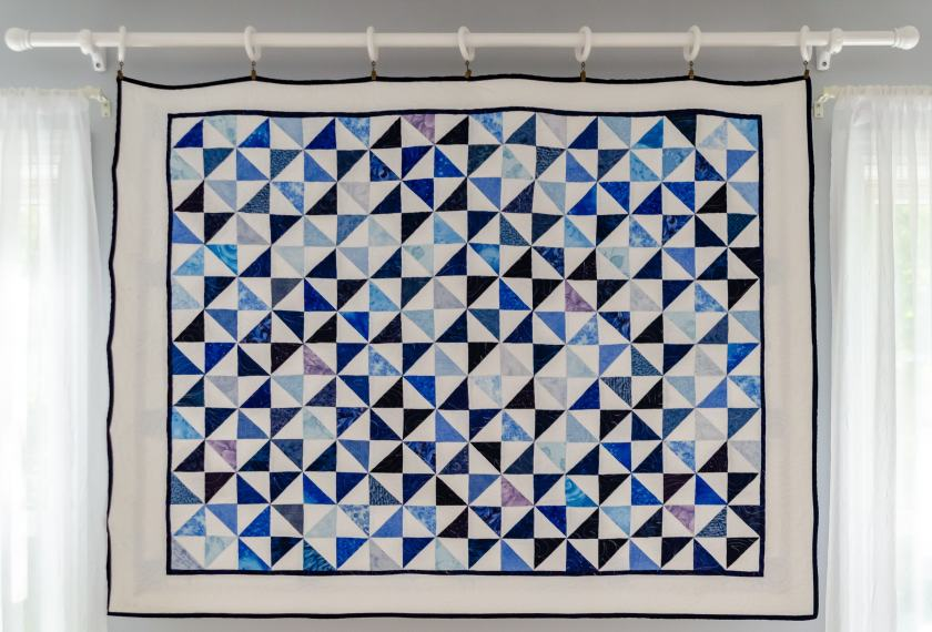 """The back of my """"Dutchman's Puzzle"""" quilt"""