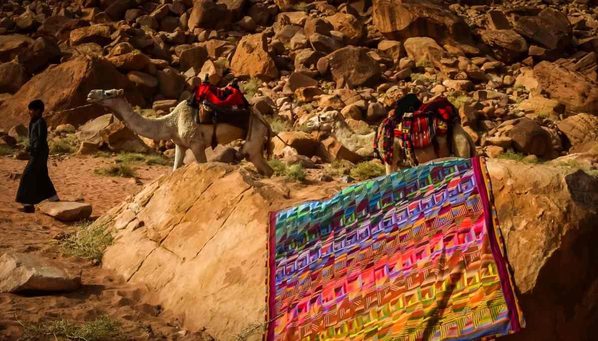My Bedouin Desert Blanket Quilt