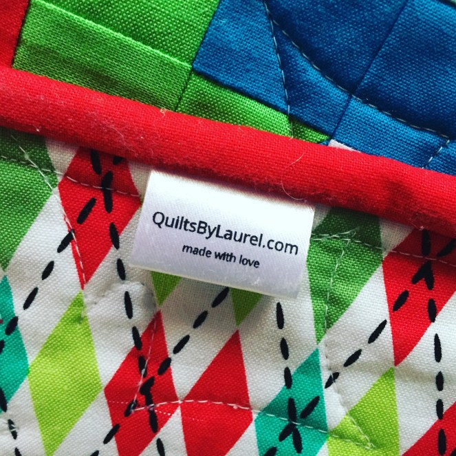 Ugly Christmas Sweaters Quilt - Label