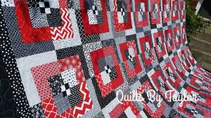 Modern quilt handmade quilt