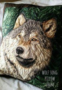 wolf pillow sham