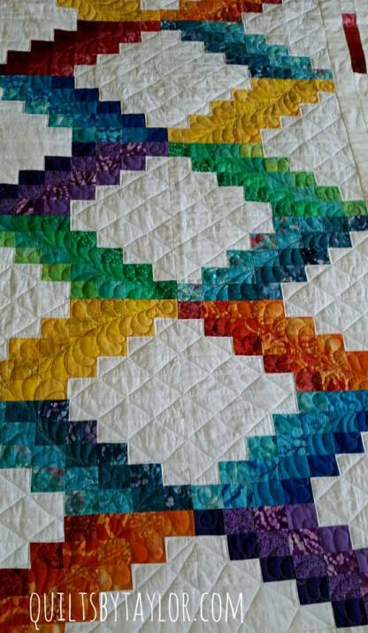 Bargello Quilt, Rainbow