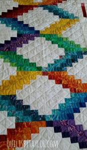 Bargello Quilt, Rainbow