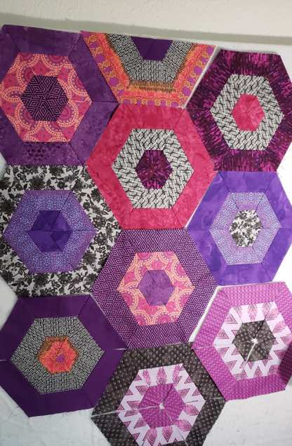 Modern Hexie Quilt for sale