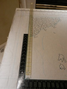 "Using the t-square and 48"" ruler for corners"