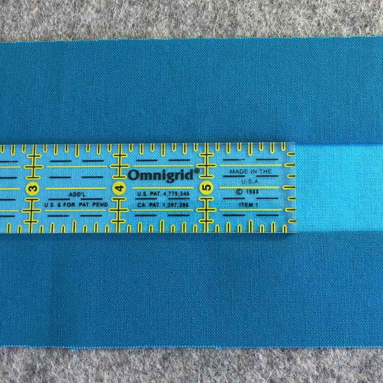 Ruler on sewn strip
