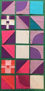 Pairs of units sewn together